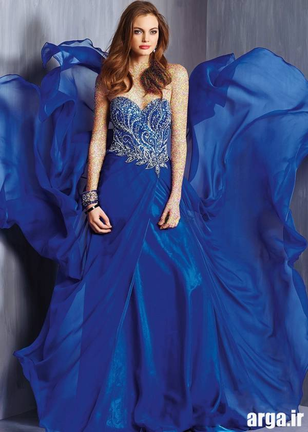 لباس شب آبی جدید
