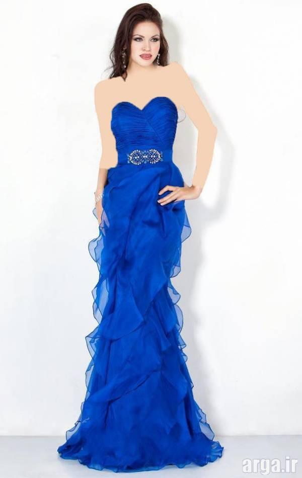 لباس شب آبی باکلاس