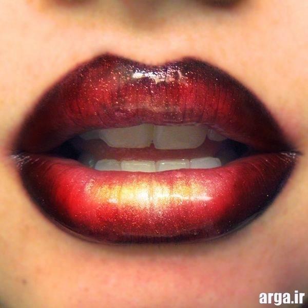 آرایش شیک لب ها