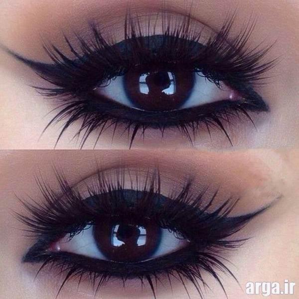 آرایش زیبا چشم قهوه ای تیره