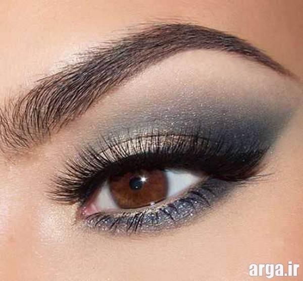 آرایش شیک چشم قهوه ای