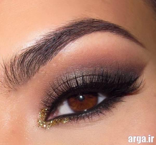 آرایش چشم قهوه ای متوسط