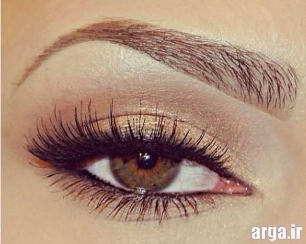 آرایش چشم قهوه ای روشن