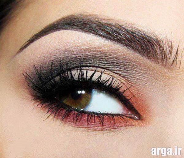 آرایش چشم با سایه چند رنگ