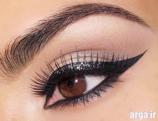 آرایش زیبای چشم قهوه ای