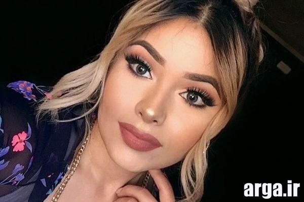 مدل آرایش زیبا برای صورت گرد