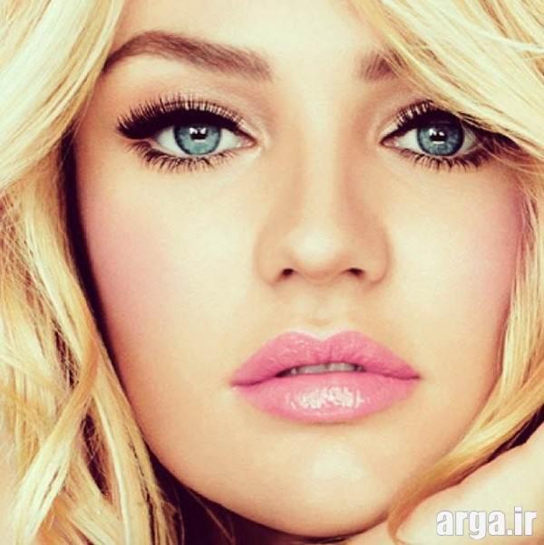 مدل آرایش صورت جذاب برای صورت های گرد