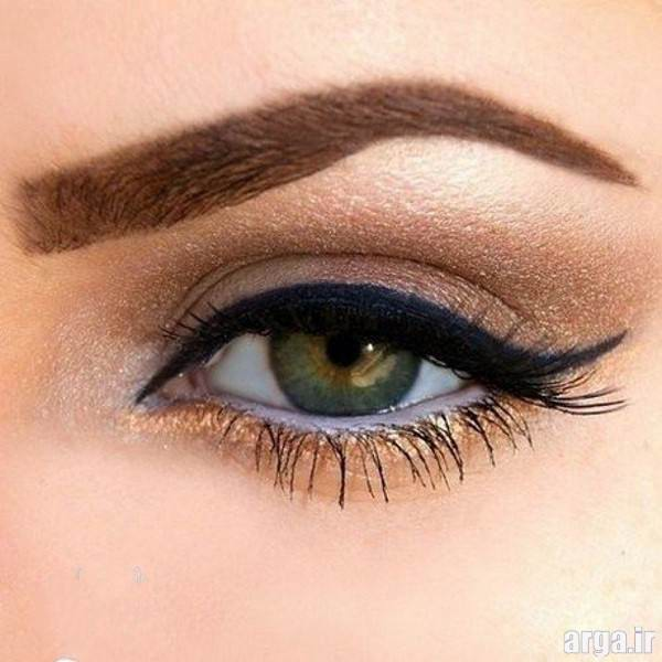 آرایش چشم ساده عروس