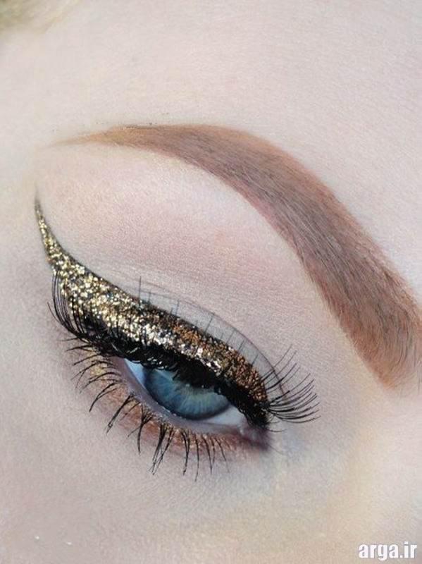 آرایش چشم عروس با سایه براق