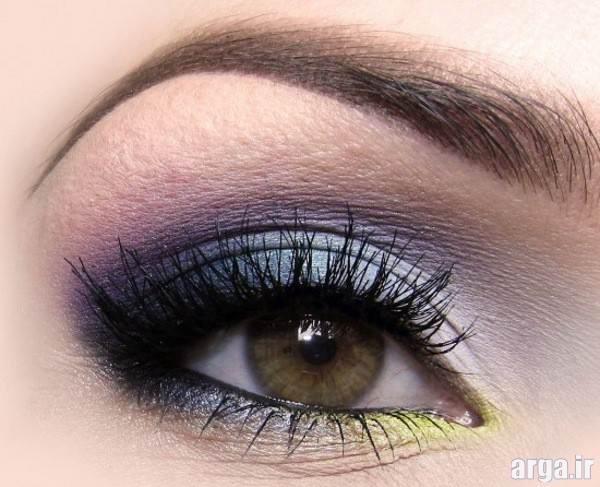 آرایش چشم عروس با سایه چند رنگ