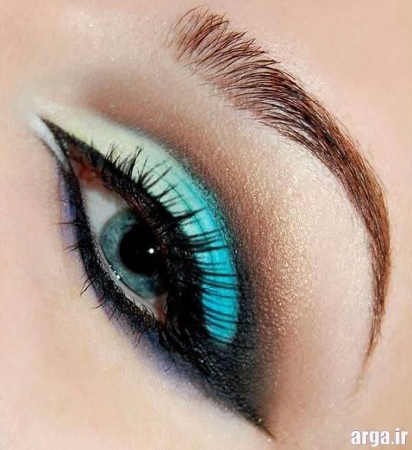 سایه جذاب و رنگی برای چشم عروس