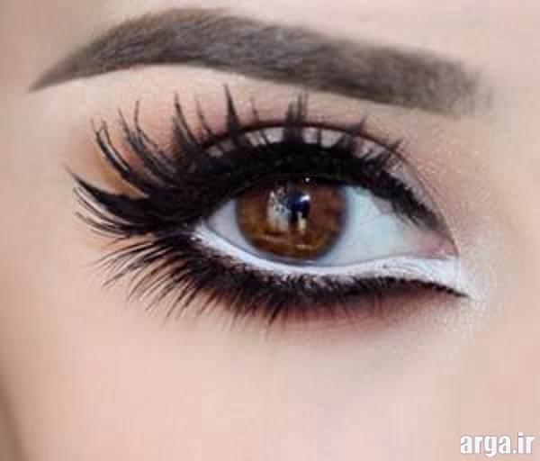 ارایش چشم عروس با خط شم متفاوت
