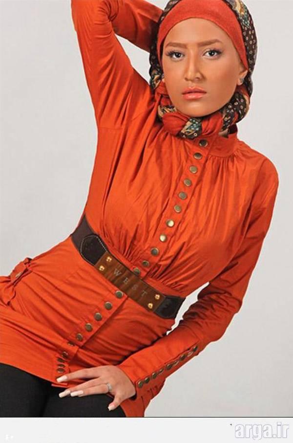 مدل مانتو اسپرت نارنجی
