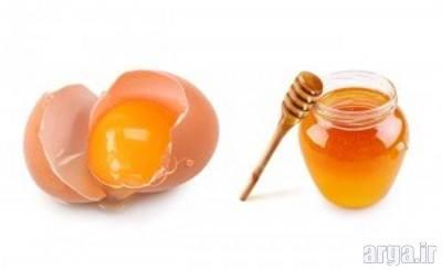 ماسک مو تخم مرغ و عسل