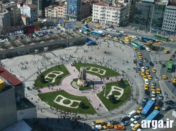 میدان تاکسیم استانبول از نمای بالا