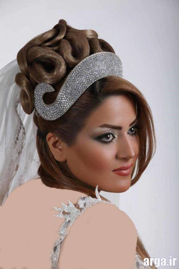 مدل موی باز و بسته عروس