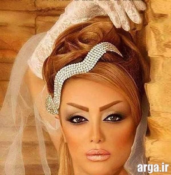 مدل مو عروس با ژست زیبا