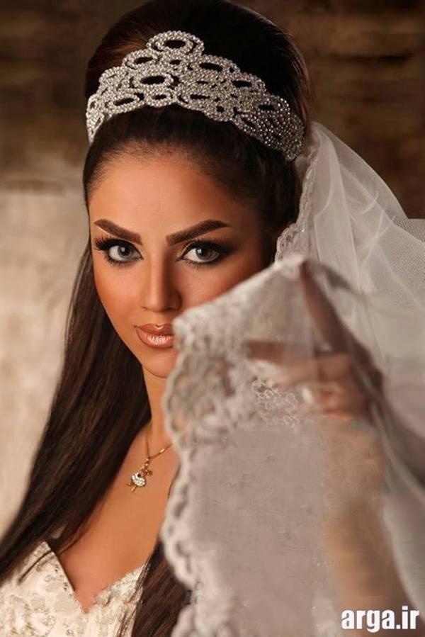 مدل مو عروس با ژست زیبا و شیک