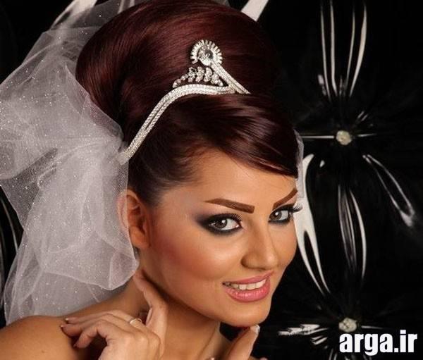 مدل مو و تاج زیبای عروس