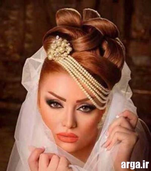 مدل موی عروس با رنگ قهوه ای