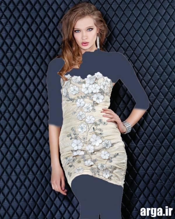 مدل پیراهن مجلسی دخترانه سفید