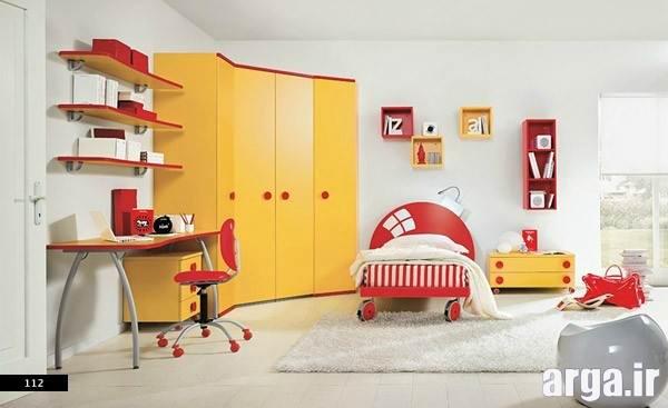 اتاق خواب دخترانه نارنجی