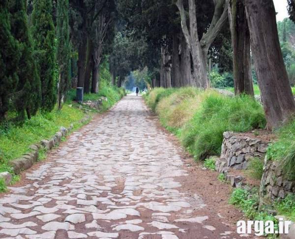راهی قدیمی در رم