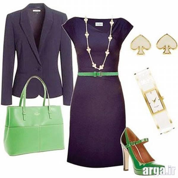 ست رنگ سبز و بنفش