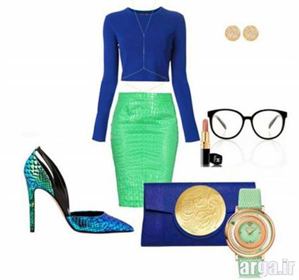 ست رنگ سبز و آبی