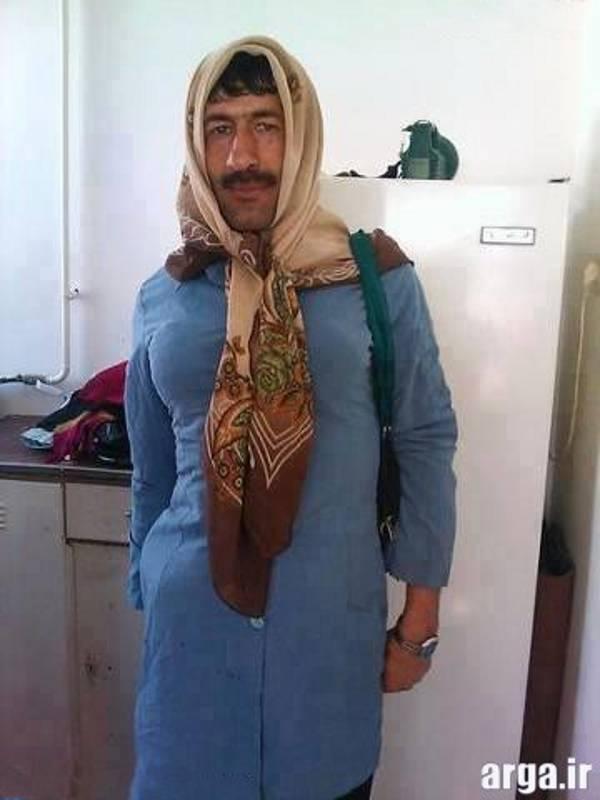 طنز مرد در لباس زن