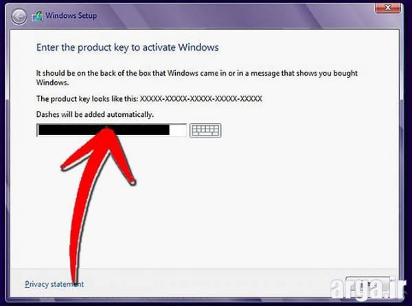 سومین مرحله نصب ویندوز 8