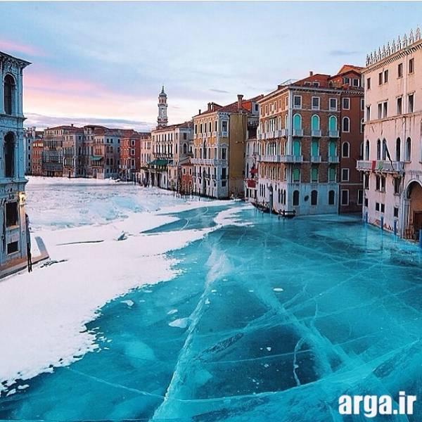 تصویری دیگر از ونیز یخ زده