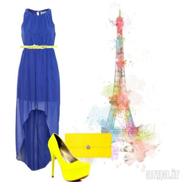 ست آبی و زرد