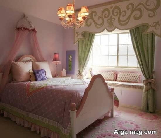 دکور زیبای اتاق کودک دخترانه