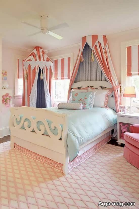 دکوراسیونی زیبا از اتاق کودک دخترانه