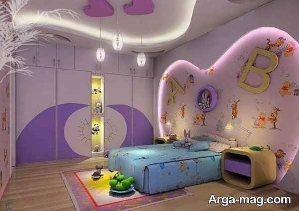 طراحی و چیدمانی دخترانه برای اتاق کودک