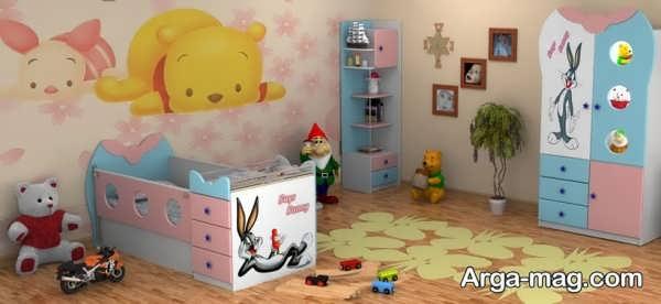 طراحی و چیدمانی بامزه برای اتاق کودک