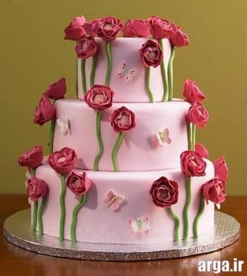 کیک تولد 3 طبقه