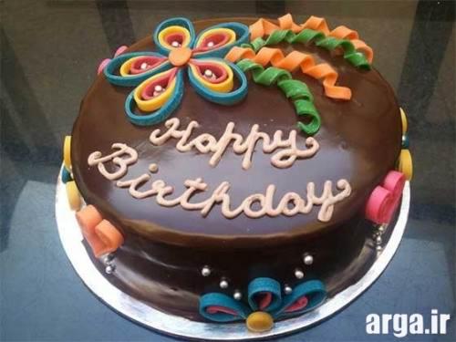 کیک تولد با تزیین شکلات