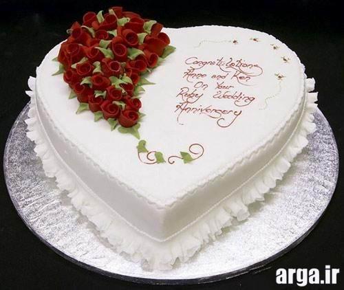 کیک تولد قلبی
