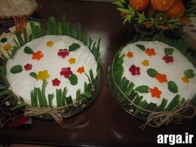 تزیین باغچه زیبا با کیک مرغ