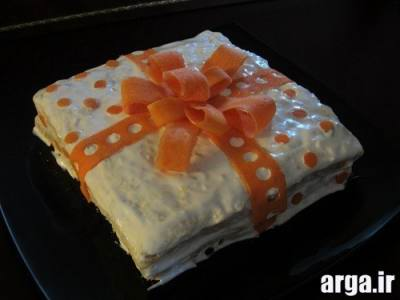 تزیین کیک مرغ کادو