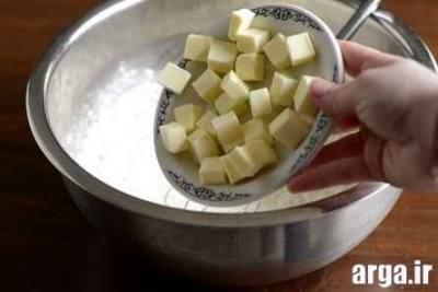 مرحله تهیه کیک مرغ