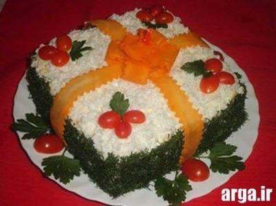 کیک مرغ کادو شده