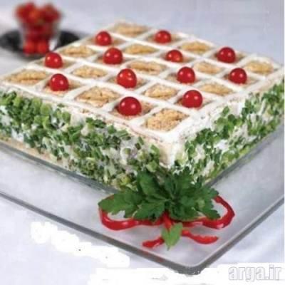 کیک مرغ و ژامبون