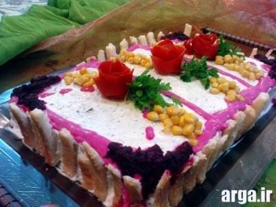 آراستن کیک مرغ و تهیه آن