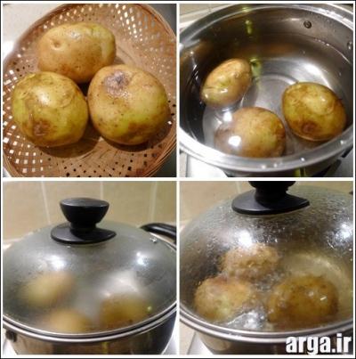مراحل تهیه کتلت مرغ