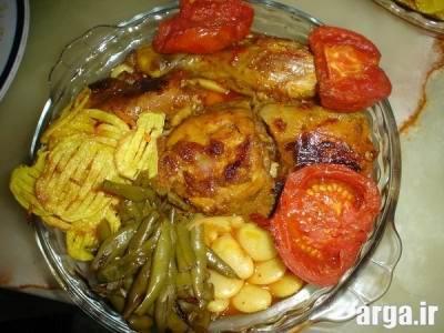 طرز تهیه خورشت مرغ و لوبیا سبز