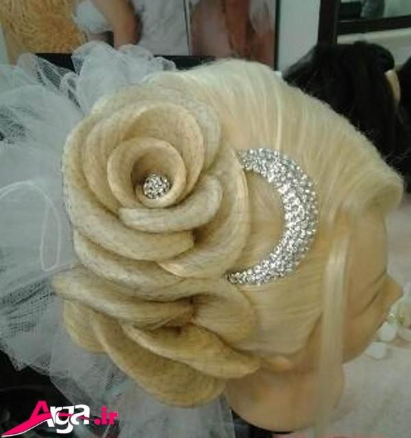 مدل های شینیون گل با تور