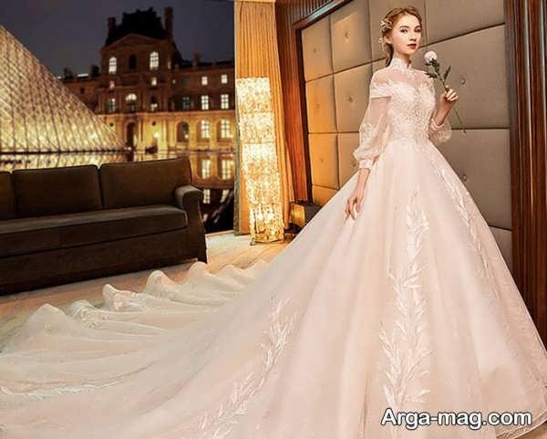 لباس عروس آستین دار خاص